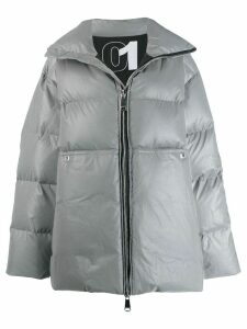 Khrisjoy oversized padded coat - Silver
