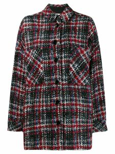 Iro Elmer checked coat - Red