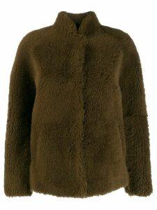 Sprung Frères Edina shearling jacket - Brown