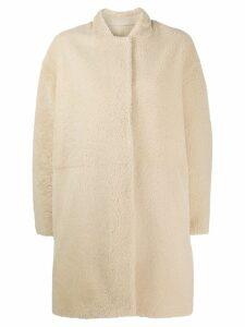 Sprung Frères Sedona shearling coat - Neutrals
