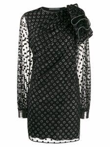 Alberta Ferretti polka dot print dress - Black