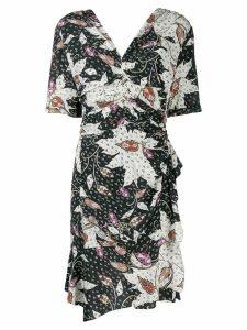 Isabel Marant asymmetric fitted dress - Black
