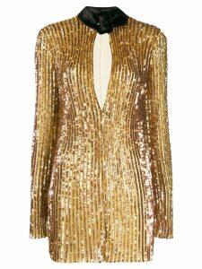 Attico sequinned mini dress - Gold