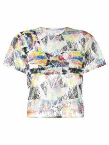 Collina Strada Rainbow Lace top - Black