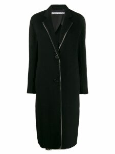 Alexander Wang exposed zip midi coat - Black