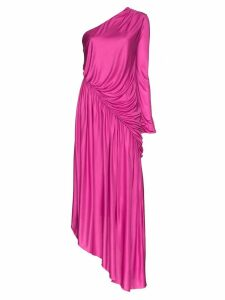 Halpern one-shoulder asymmetric dress - Pink