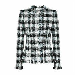 Alexander McQueen Checked Tweed Jacket