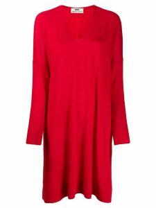 Sminfinity long V-neck jumper - Red