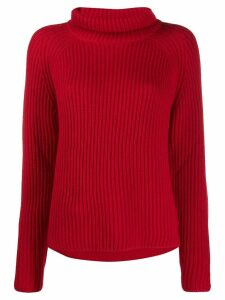 Sminfinity roll neck jumper - Red