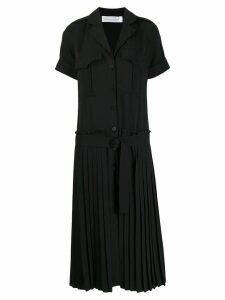 Victoria Victoria Beckham pleated skirt shirt dress - Black