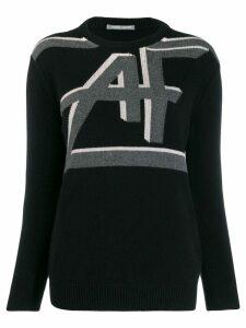 Alberta Ferretti logo knit sweater - Black