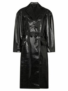 Simone Rocha laminated-effect trench coat - Black