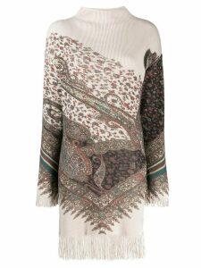 Etro fringe sweater dress - Neutrals