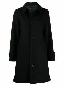 A.P.C. classic single-breasted coat - Blue