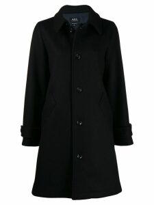 A.P.C. classic single-breasted coat - Blue