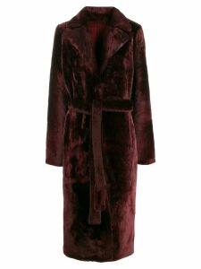 Yves Salomon belted trench coat - Red