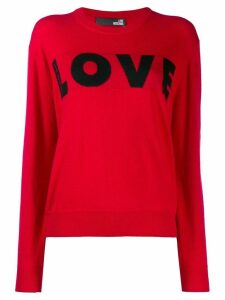 Love Moschino Love knit jumper - Red