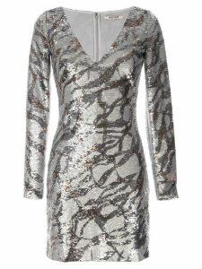 Roberto Cavalli sequinned bodycon dress - Grey