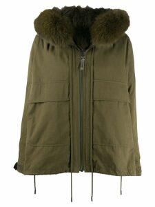 Yves Salomon Army zipped parka jacket - Green