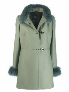 Fay fur details coat - Green