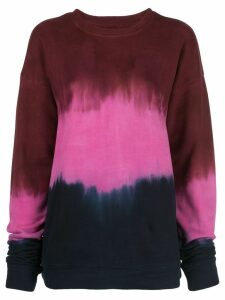 The Elder Statesman tie-dye print sweatshirt - Red