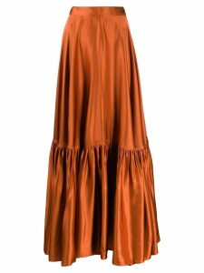 Plan C ruffled hem skirt - Orange
