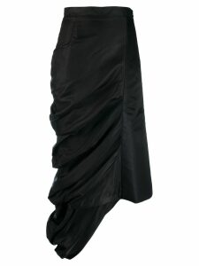 Y/Project ruched asymmetric skirt - Black