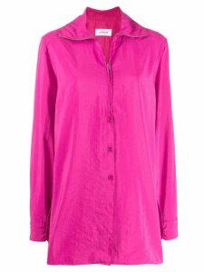Lemaire zip-up shirt jacket - Pink