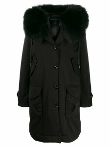 Ermanno Scervino padded hooded rain coat - Black