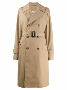 Maison Margiela belted trench coat - Brown