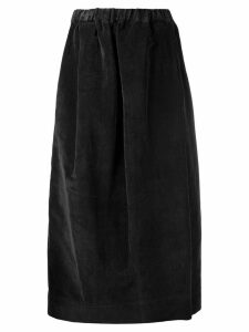 Lemaire velvet elasticated skirt - Black