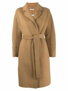 P.A.R.O.S.H. belted midi coat - Brown