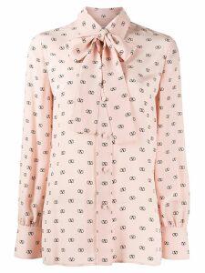 Valentino VLOGO print blouse - Pink