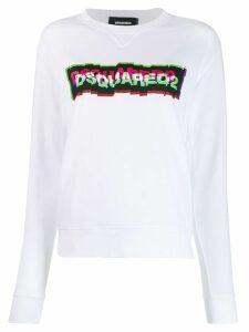 Dsquared2 3D logo print sweatshirt - White