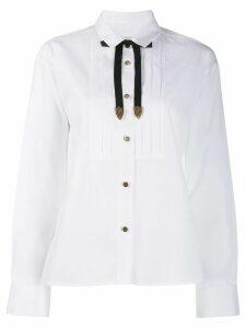 Coach tie neck shirt - White