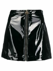 Chiara Ferragni A-line faux leather skirt - Black