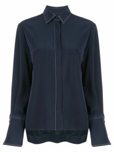 Co pleated detail shirt - Blue