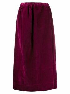 Lemaire velvet elasticated skirt - Pink