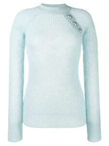 Balmain knitted crew neck jumper - Blue