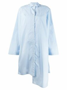 Loewe long asymmetrical shirt - Blue