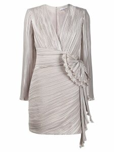 Givenchy draped detail pleated dress - Neutrals