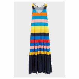 Chinti & Parker Rainbow Sunset Holiday Organic Jersey Maxi Dress