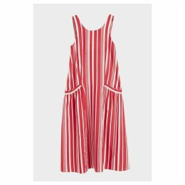 Chinti & Parker Red Striped Parasol Sundress