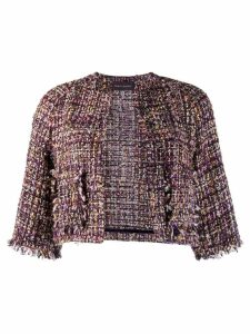 Talbot Runhof Nununu tweed jacket - Purple