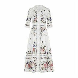Erdem Kasia Floral-print Cotton Midi Dress