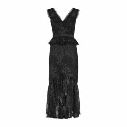 THREE FLOOR Hypnotic Black Metallic Lace Dress