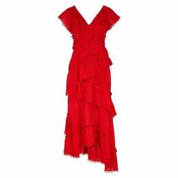 THREE FLOOR Red Fil Coupé Dress