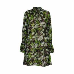 ByTiMo Black Floral-print Georgette Dress