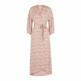 ByTiMo Light Pink Floral-print Midi Dress