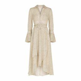 ByTiMo Ivory Polka Dot Belted Midi Dress